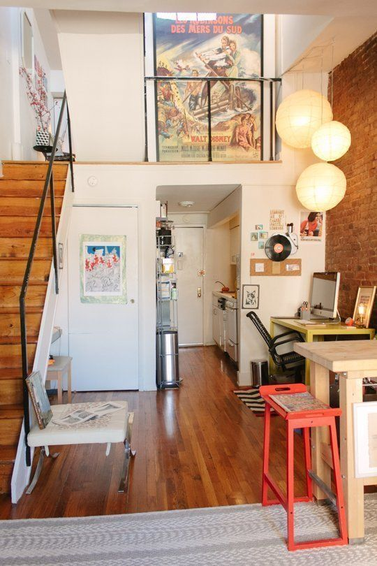 Amazing Small Space Style: 15 Inspiring Tiny New York City Homes | CBu0027s Quirky U0026  Personal Duplex, 450 Square Feet (#6) | Tiny Homes