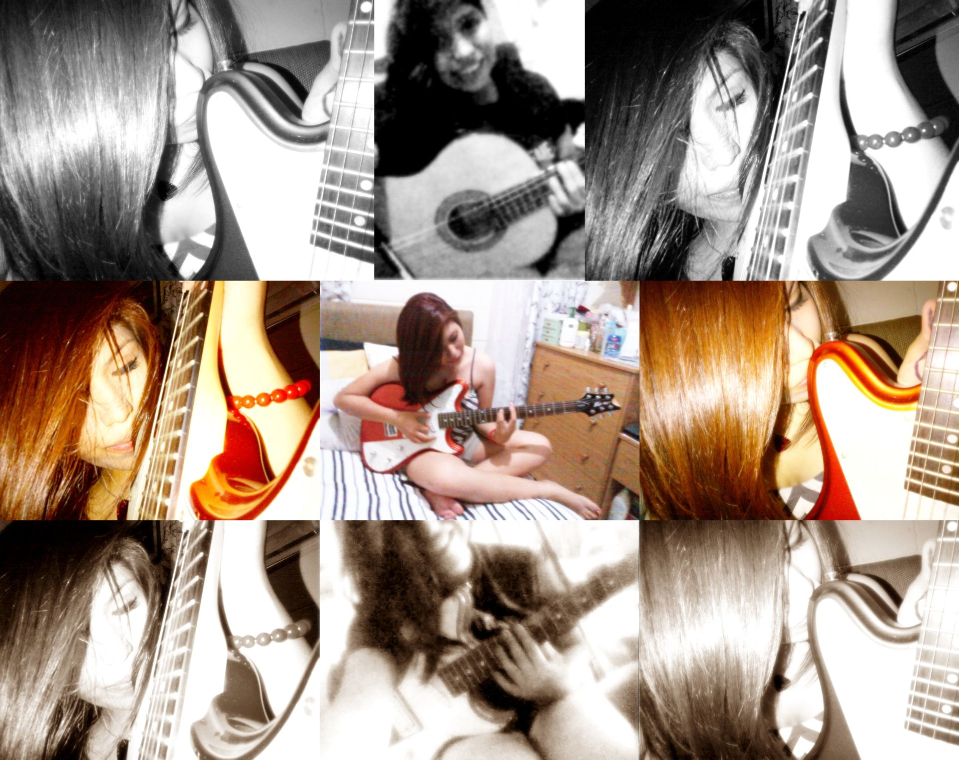 Tocar guitarra para aliviar el dolor.