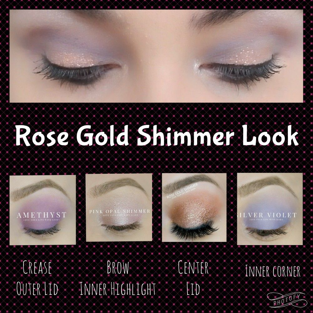 Shadowsense Looks Rose Gold Shimmer Amethyst Silver