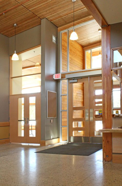 Main Entrance Interior Of Crawford Bay Elementary School In Crawford Bay Bc Canada Kmbr