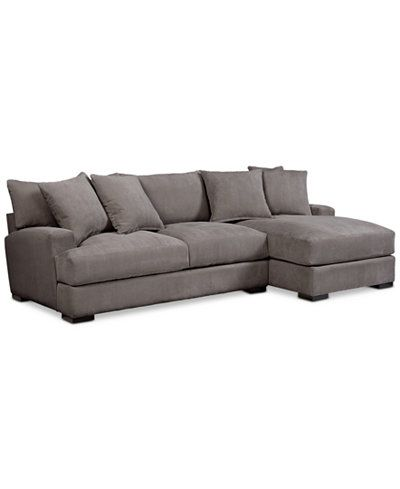 Rhyder 2-Pc. Fabric Sectional Sofa with Chaise, Created for Macy\'s ...