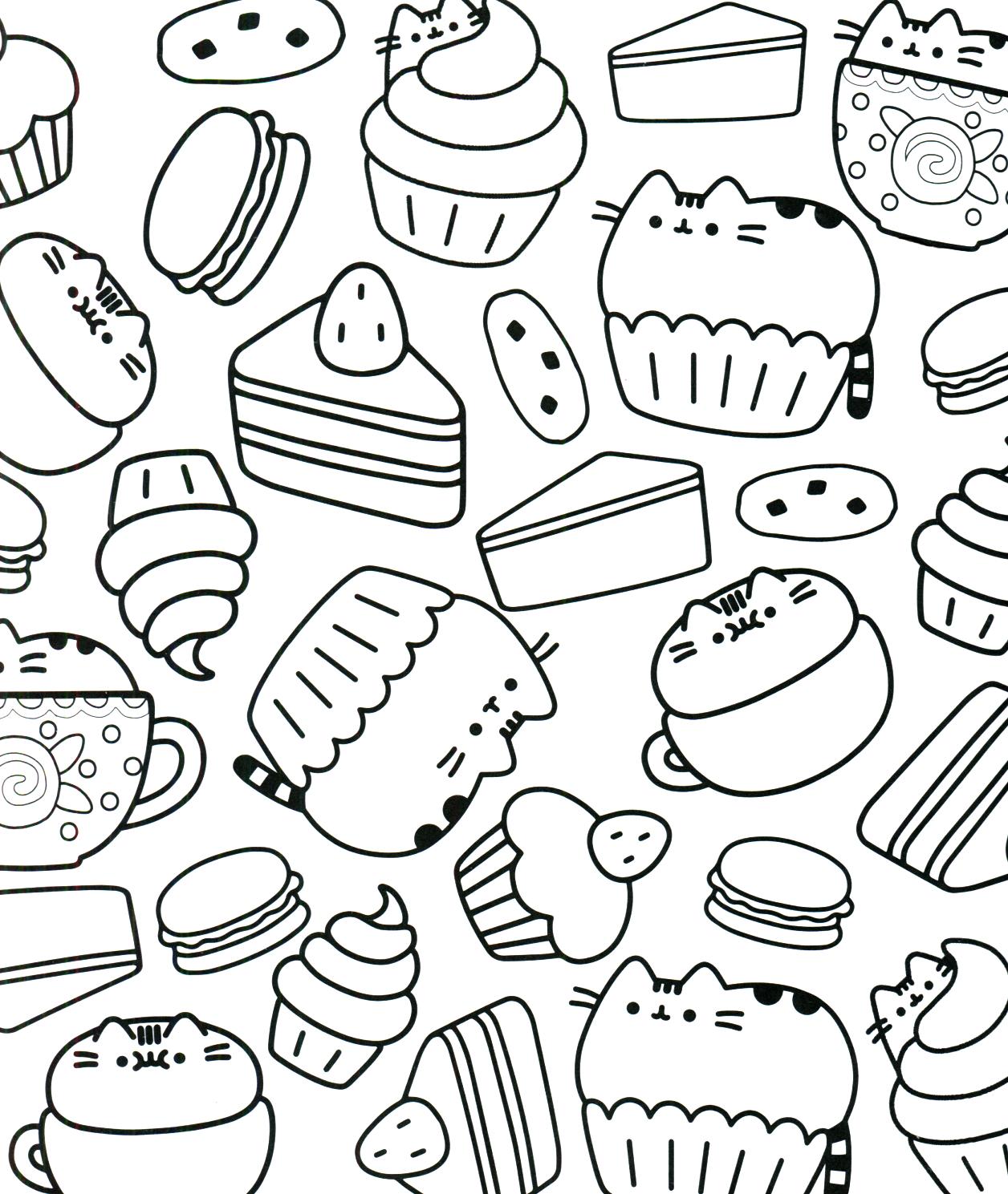 Pusheen Coloring Book Pusheen Pusheen The Cat Disney Coloring Pages Pusheen Coloring Pages Cupcake Coloring Pages