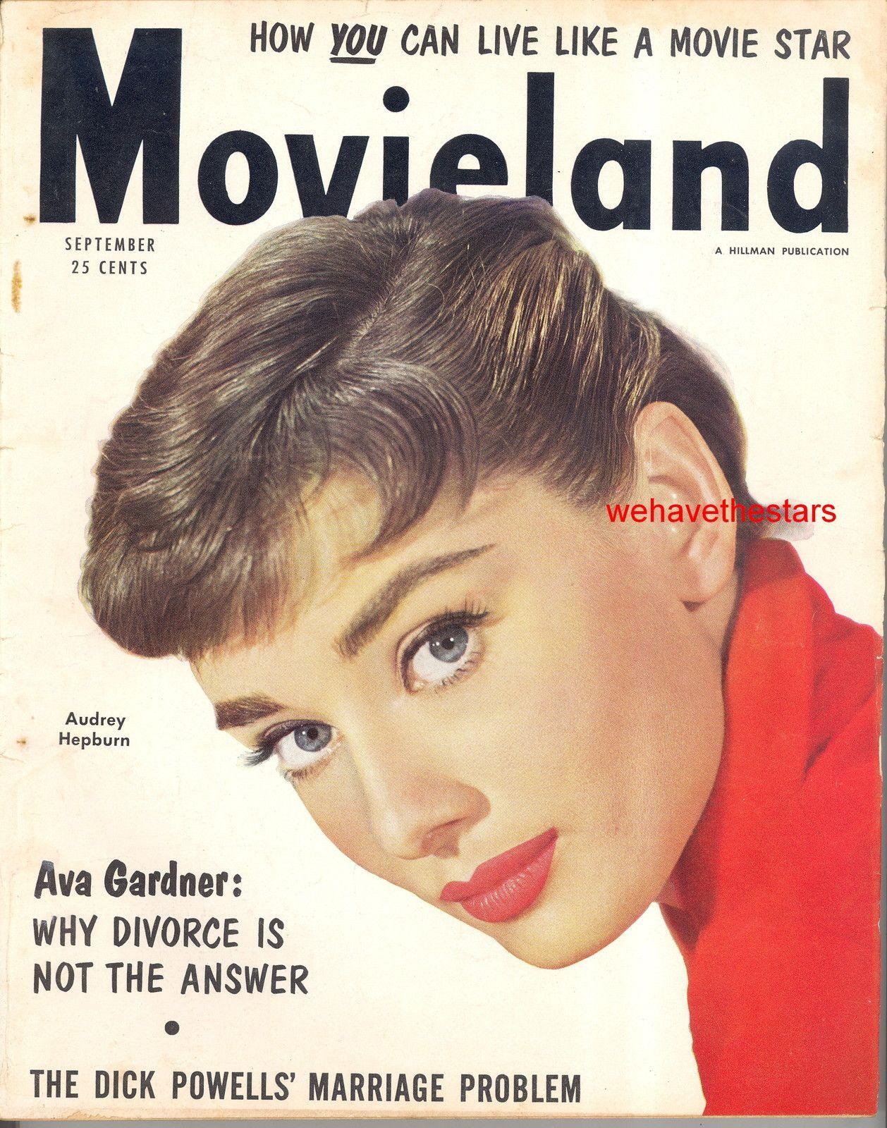 Movieland 9 54 Audrey Hepburn Ava Gardner Jeff Chandler Debra Paget Lex Barker | eBay