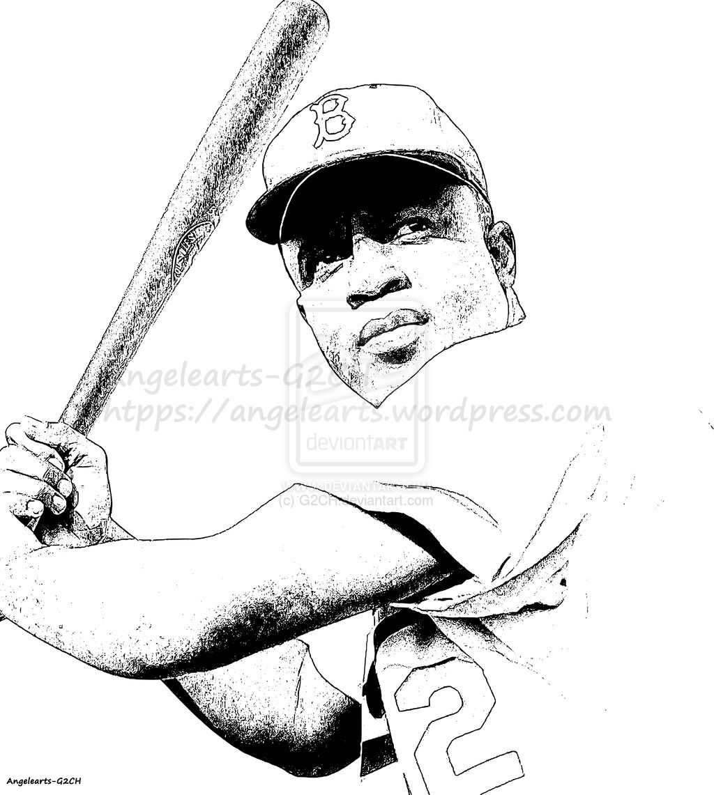 Jackie Robinson Baseball By G2ch Deviantart Com On Deviantart