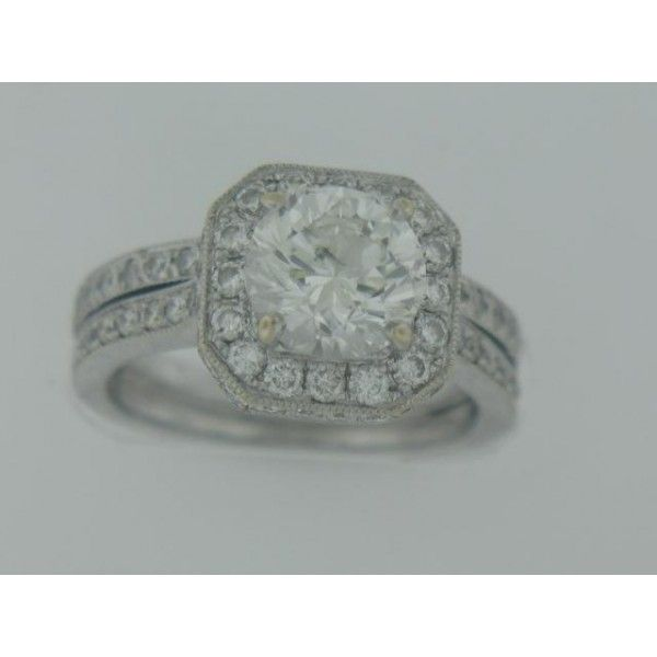 1.70 Br Egl G,Si2 18Ktwg Mtg 66 Br Dias .50 Ctw Estiamted Custom Made Band 14 Rnd Diamonds .10 Ctw Es