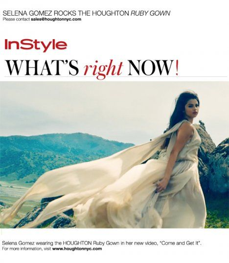 Selena Gomez InStyle May, 2013 HoughtonNYC Ruby Gown