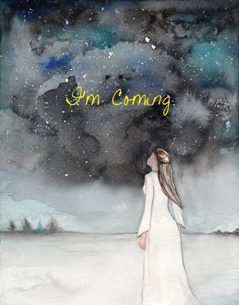Im ComingProphetic Art painting of dream night sky   Etsy in 2021   Prophetic art, Prophetic painting, Worship art