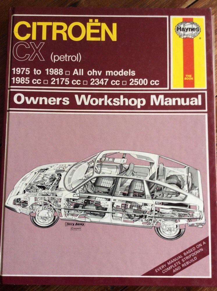 haynes owners workshop manual citroen cx petrol ohv model 1975 rh pinterest co uk Haynes Repair Manuals Online Haynes Repair Manual Online View