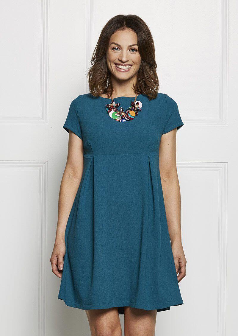 Damenkleid mit Knopfleiste und kurzen Ärmeln - Freebook | Pinterest ...