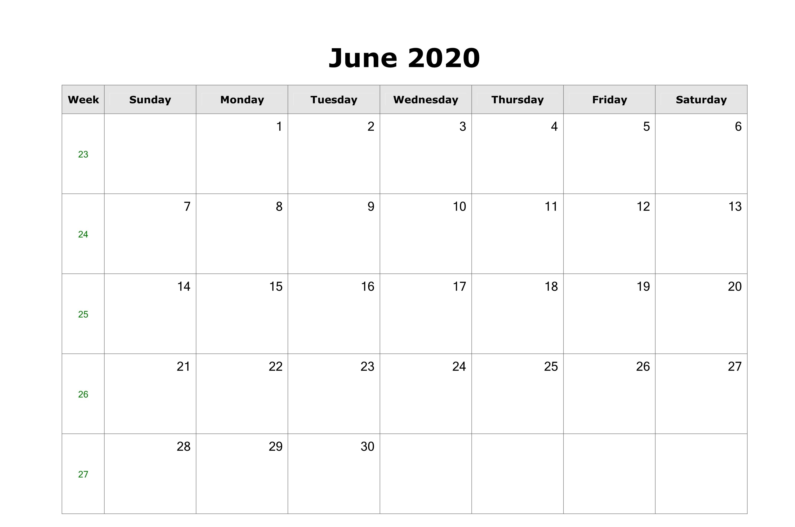 June 2020 Us Calendar Printable In 2020 Calendar March Calendar