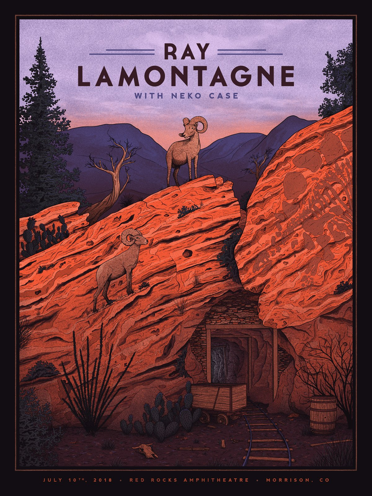 Ray Lamontagne Red Rocks Co In 2019 Band Posters Picasso