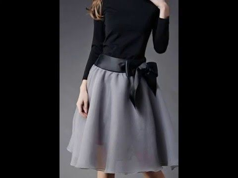 ba8e60b6e5 Ideas para combinar faldas anchas – falda circular a la moda - YouTube