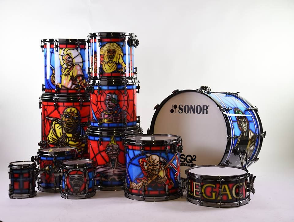 The Kit Comes With Custom Iron Maiden Artwork Based On The Production Design Of The Legacy Of The Beast Tour And Consists Of Drum And Bass Iron Maiden Drums