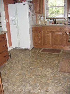 Kitchen Remodel Cabinets Luxury Vinyl Tile Flooring Solid
