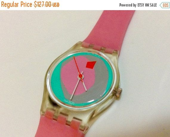 Swatch watch women's watch Vintage 1980s Wrist Watch Small Dial with original dial protector