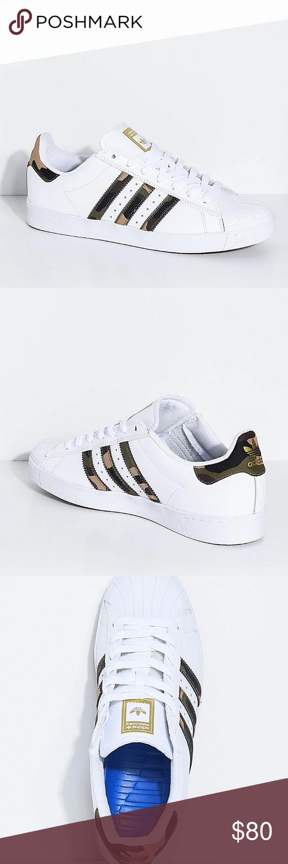 adidas originali superstar, te white & mimetico scarpe nuove di zecca nel riquadro