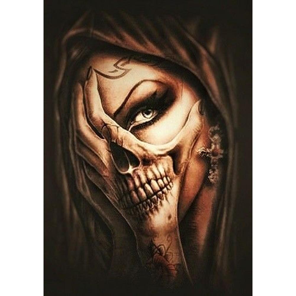 Pin On Skull Girl Tattoo