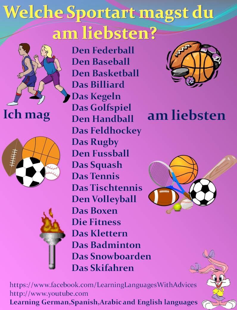 Sportart Englisch