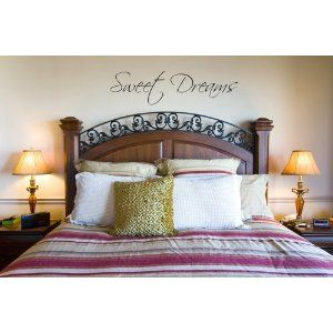 Sweet Dreams Wall Decal Solid Headboard And Matching