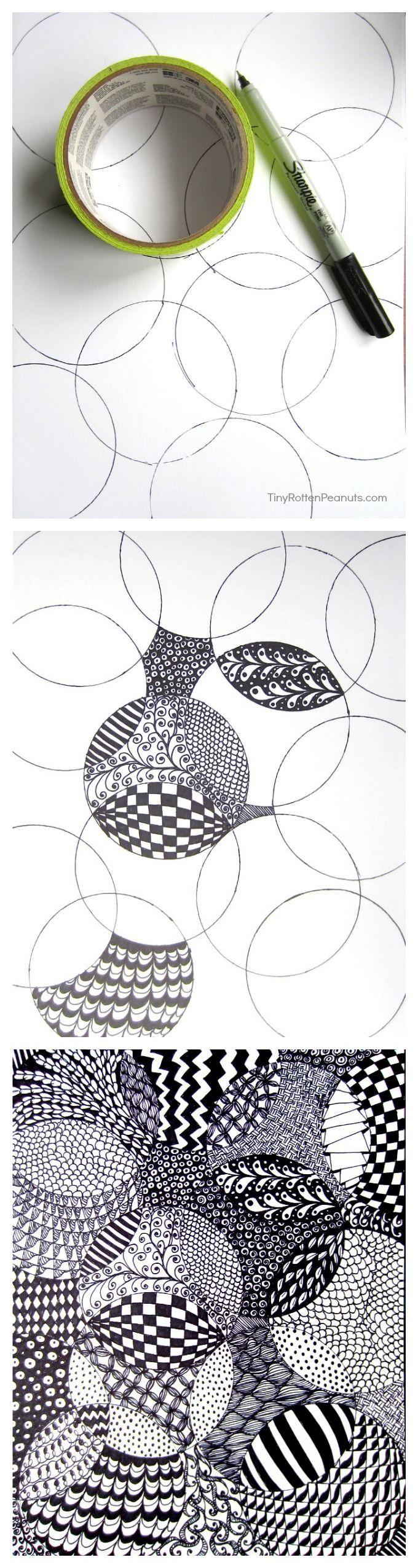 Totally Easy Zentangle Zentangle Zeichnungen Zeichnen Lernen Und