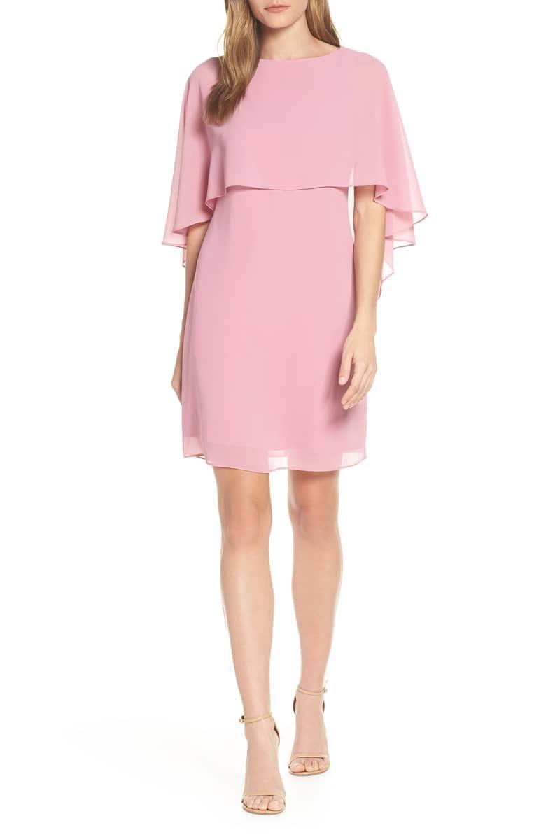 Vince Camuto Chiffon Cape Cocktail Dress Nordstrom Nordstrom Dresses Sleek Dress Dresses [ 1196 x 780 Pixel ]