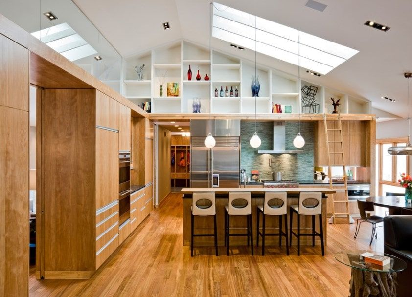 32 Kitchens With High Ceilings Photos Kitchen With High Ceilings Decorating Above Kitchen Cabinets Kitchen Accessories Design