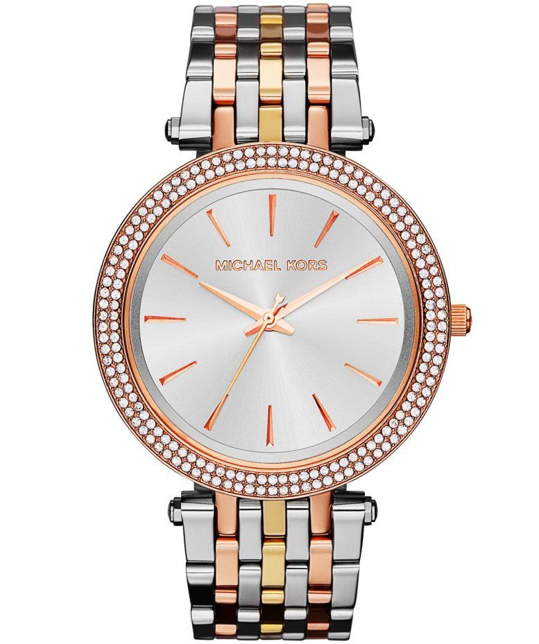 cc176e0f910a Michael Kors Darci Pavé Two-Tone Watch