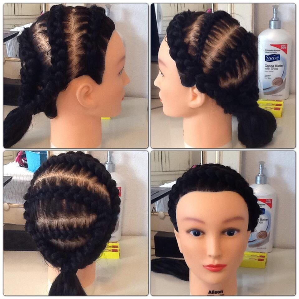 Some crazy hairstyle i just did because i was bored cool and easy