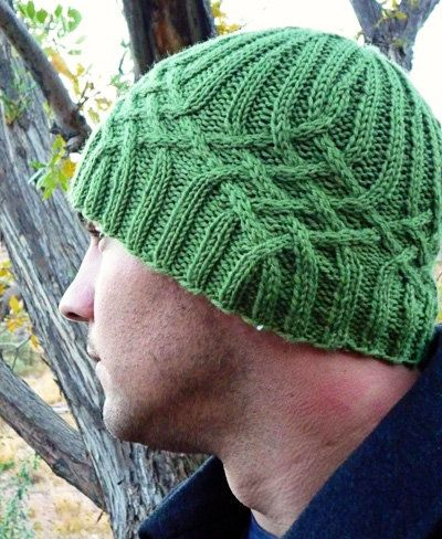 Free Knitting Pattern - Hats: Knotty But Nice Manly Hat