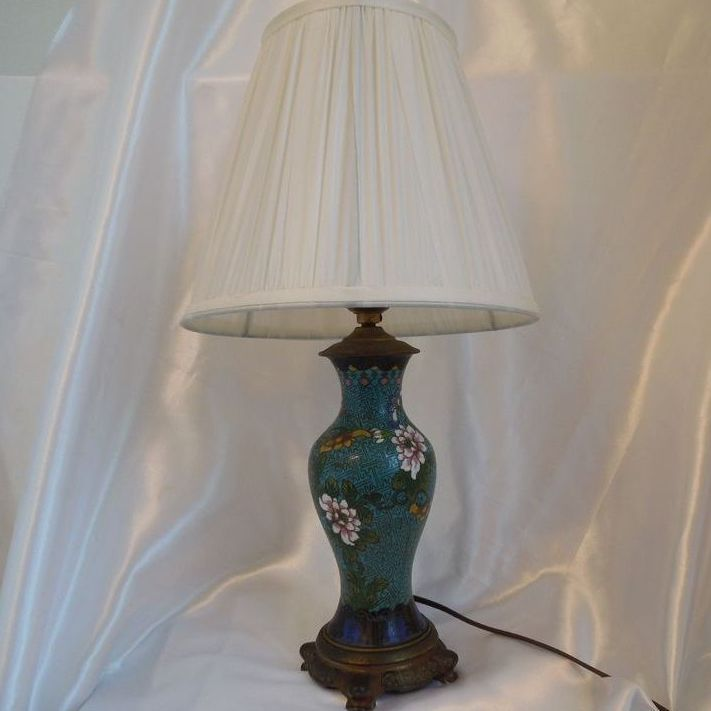 Antique Chinese Cloisonne Lamp