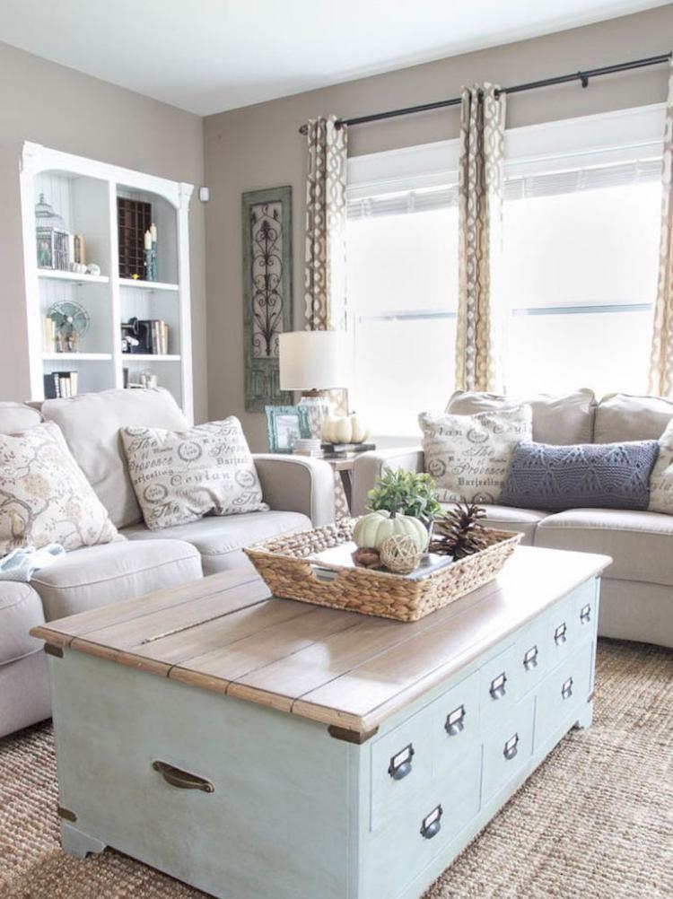 Rustic Farmhouse Living Room Furniture Decor Ideas 24 House