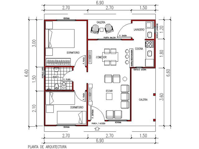 Planos de casas viviendas roca for Planos para viviendas