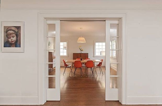 Sliding French Pocket Doors the pocket sliding french doors between the living room and the