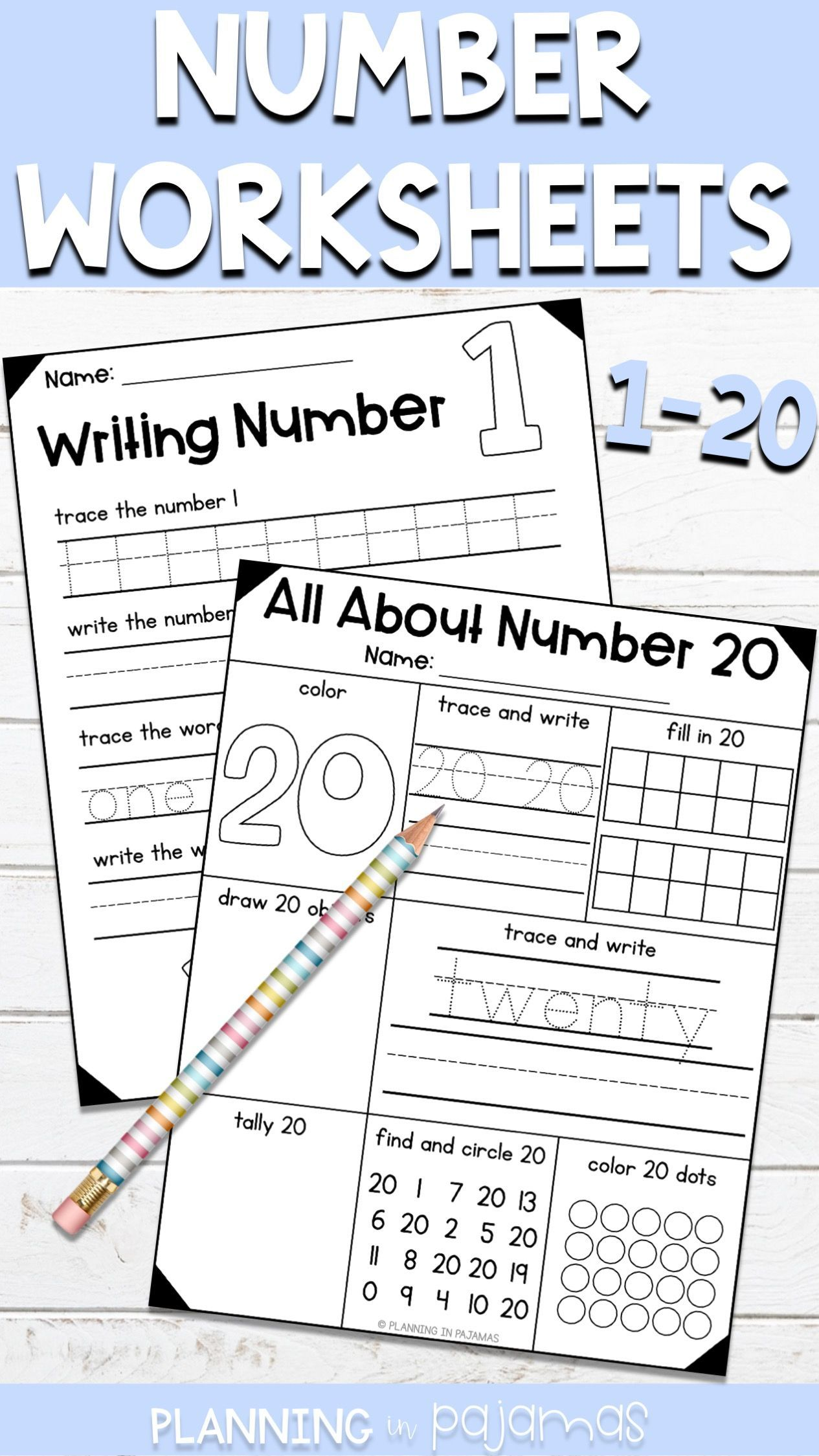 All About Numbers And Number Writing Practice 1 20