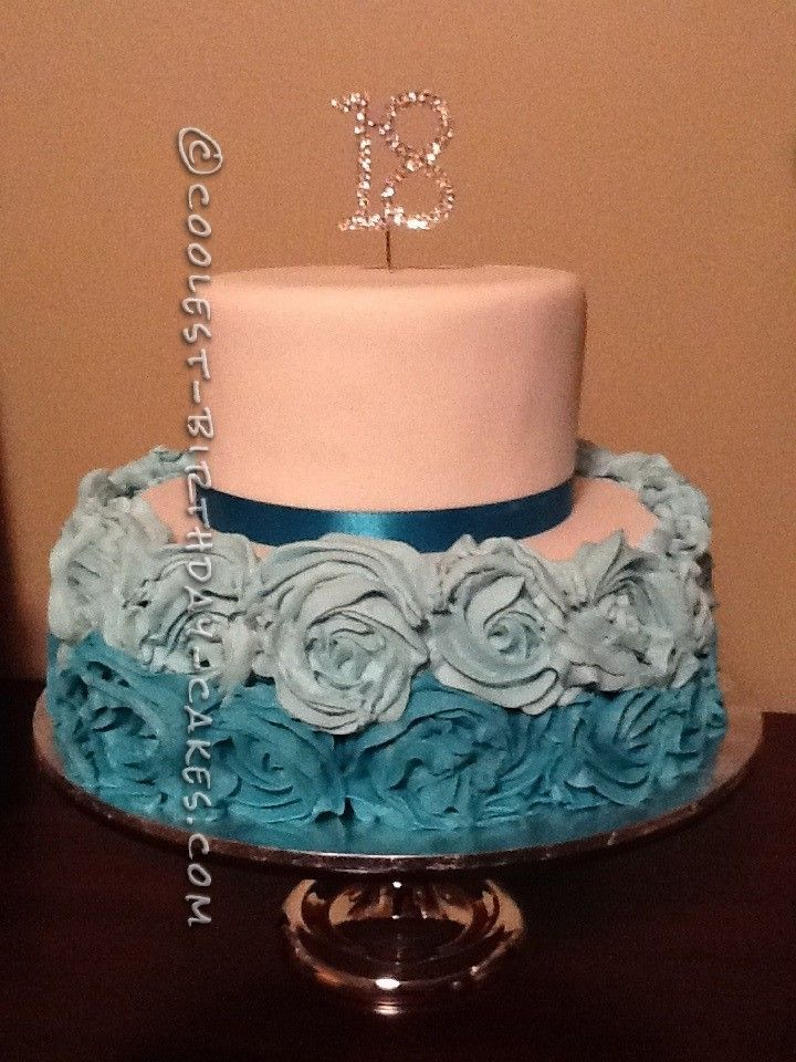 Coolest flower 18th birthday cake 18th birthday cake for 18th cake decoration