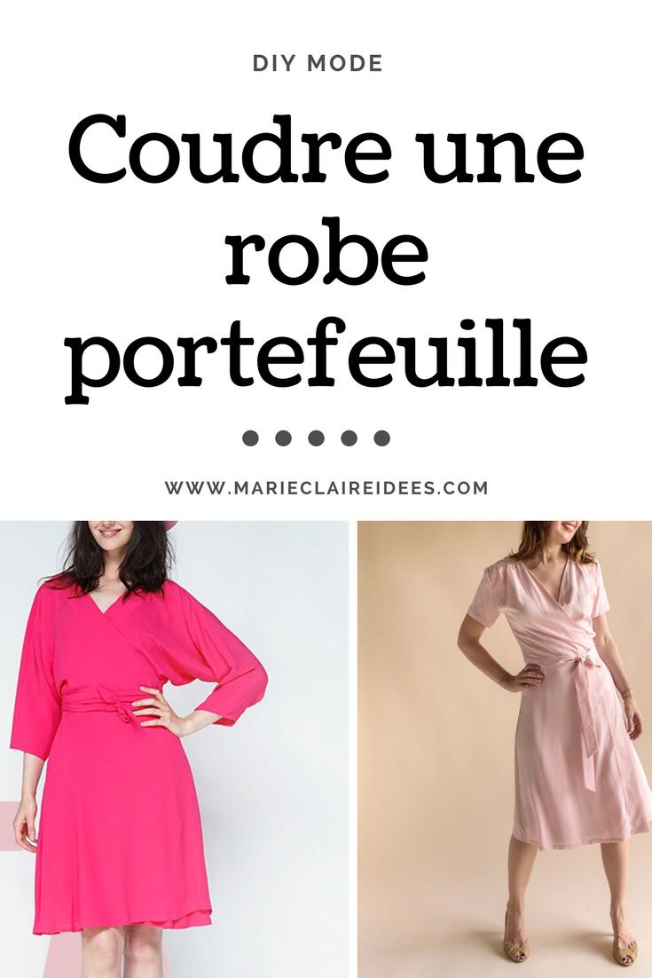d3b38623cb9a Coudre une robe portefeuille   diy mode   tendance mode été 2017   patron  de couture robe portefeuille