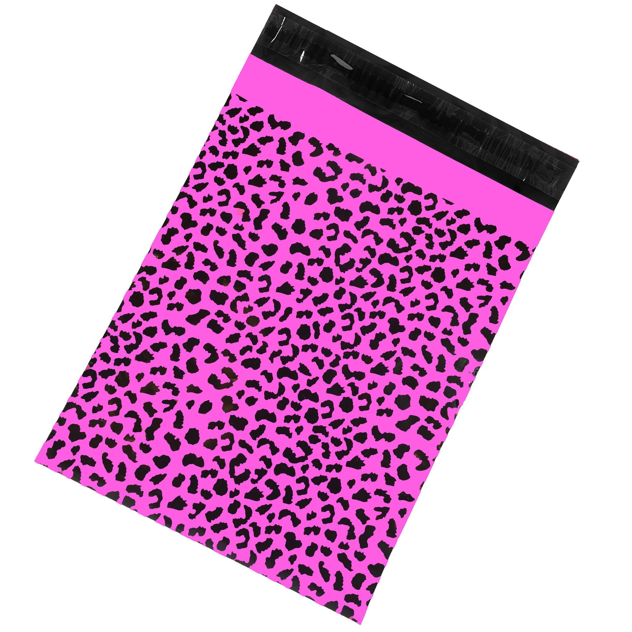 Printed Poly Mailers 10x13 Hot Pink Cheetah Pack of 100