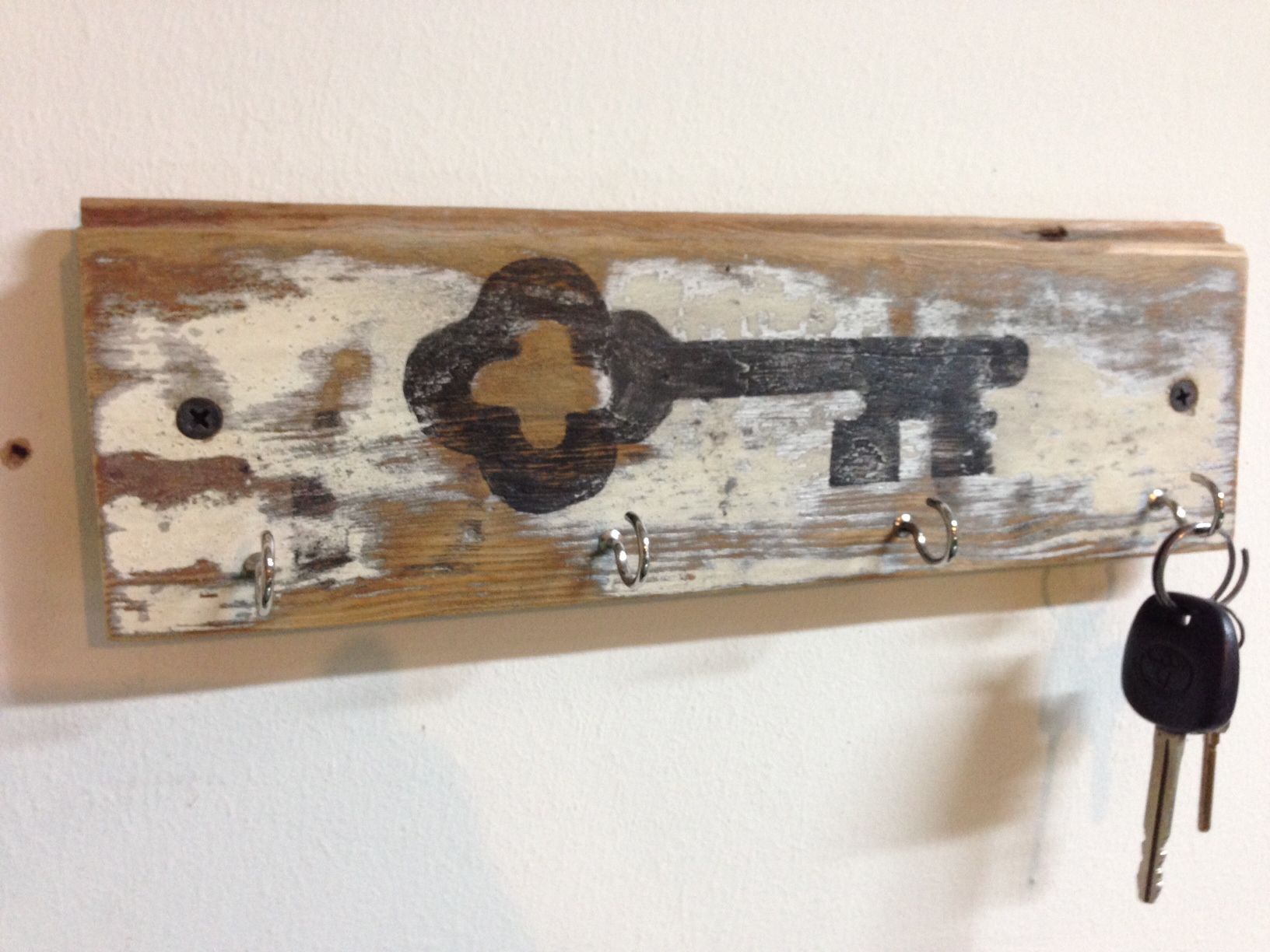 Wooden Key Holder With Shelf Reclaimed Wood Wall Key Holder Rack With Vintage Key