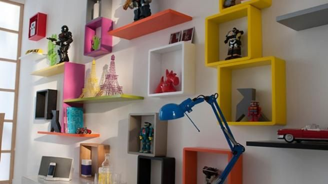 les cubes ont la cote d coration murale rangement mural parement mural et tag re. Black Bedroom Furniture Sets. Home Design Ideas
