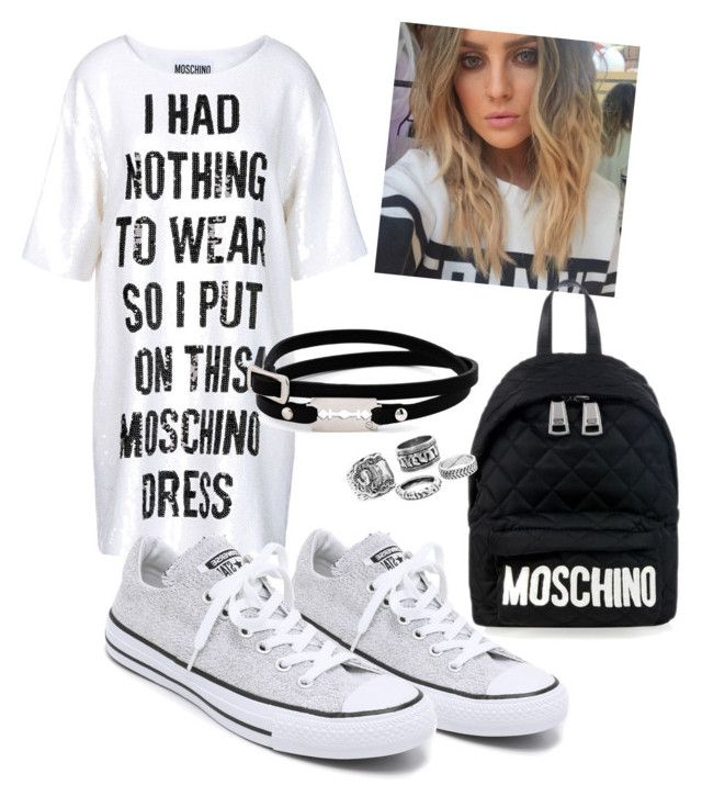 """so we called this chill"" by balweelzihan on Polyvore featuring Converse, Moschino and McQ by Alexander McQueen"