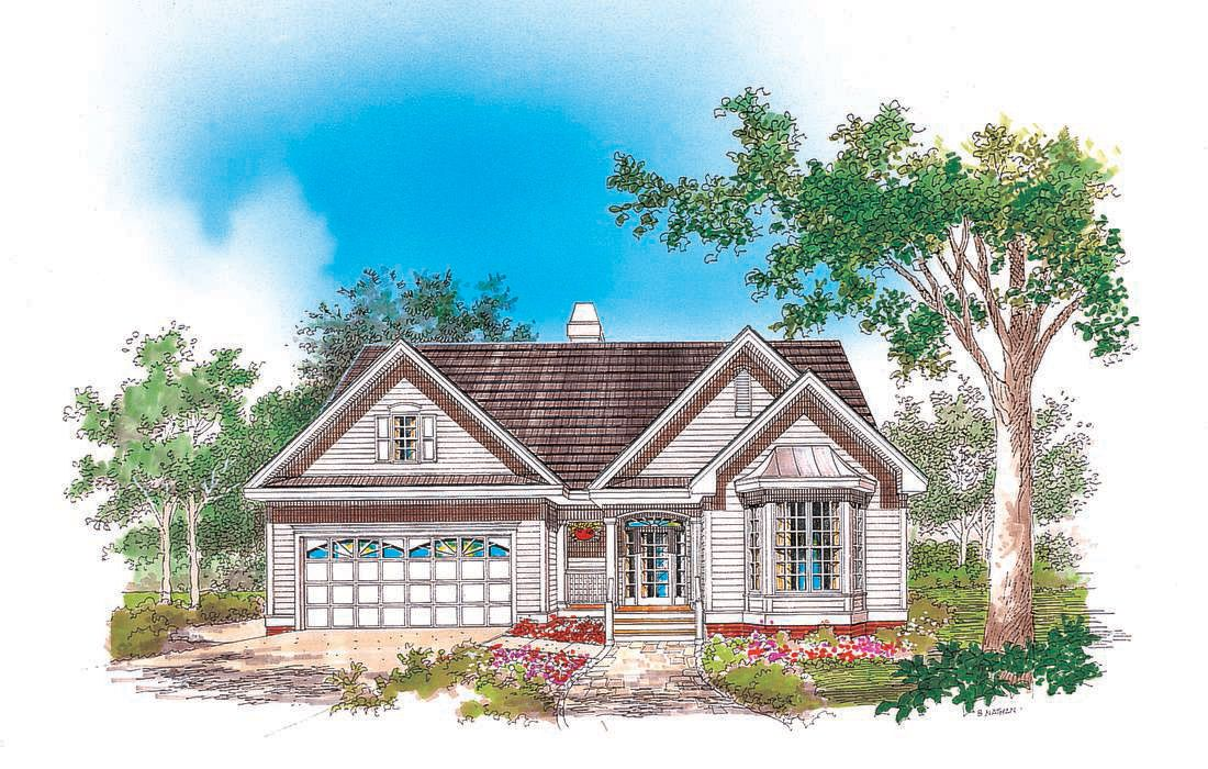 The Pfeiffer House Plan By Donald A Gardner Architects Country Style House Plans My House Plans Small Cottage House Plans