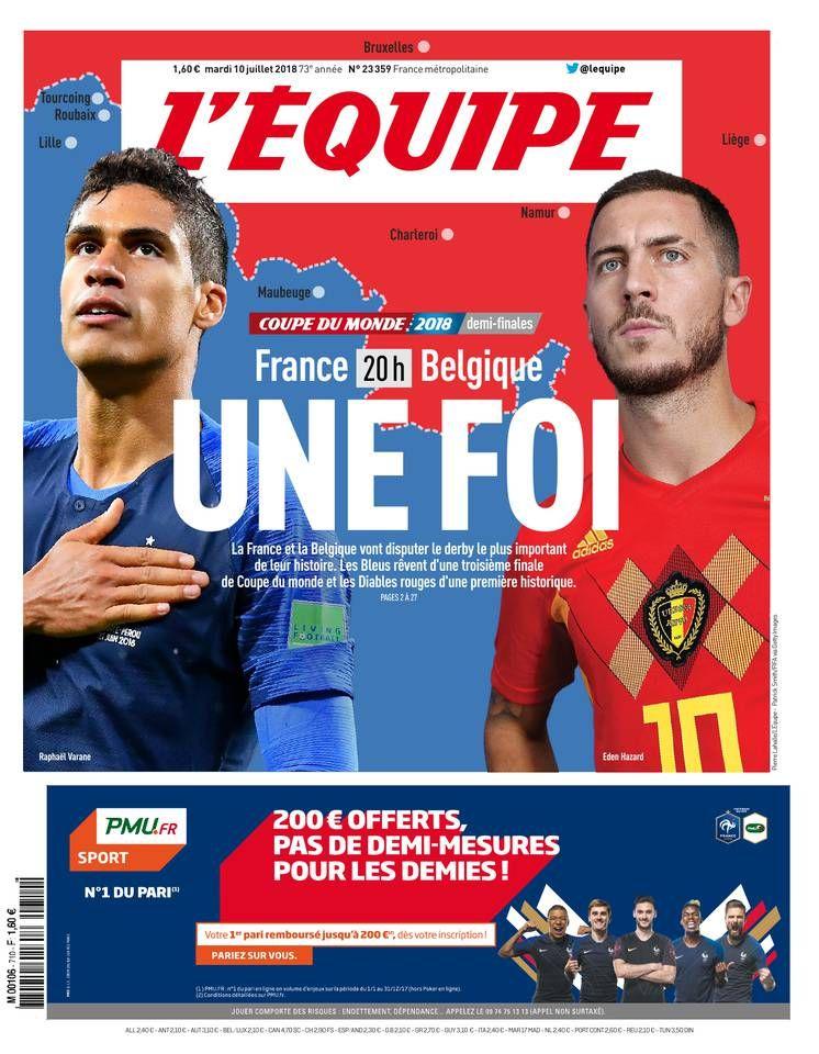 L'Equipe n°23984 — 27 mars 2020 Coupe du monde, Coupe du