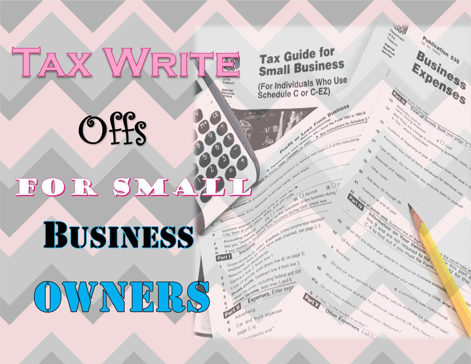 Tax Writes Offs For Small Business Owners | Pinterest | Business ...