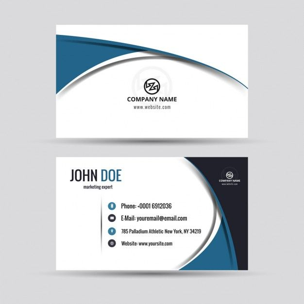 Visit card design yahoo image search results designs company card in modern style free vector reheart Gallery
