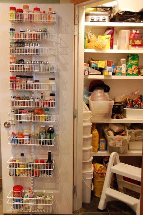 Door Spice Rack Storage