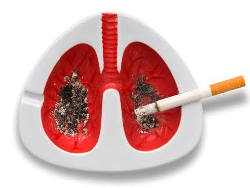 Haha so people can see exactly what smoking does to their lungs. This is funny.