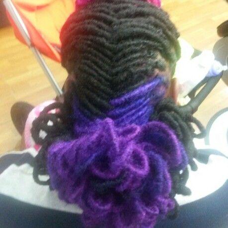 Purple bun