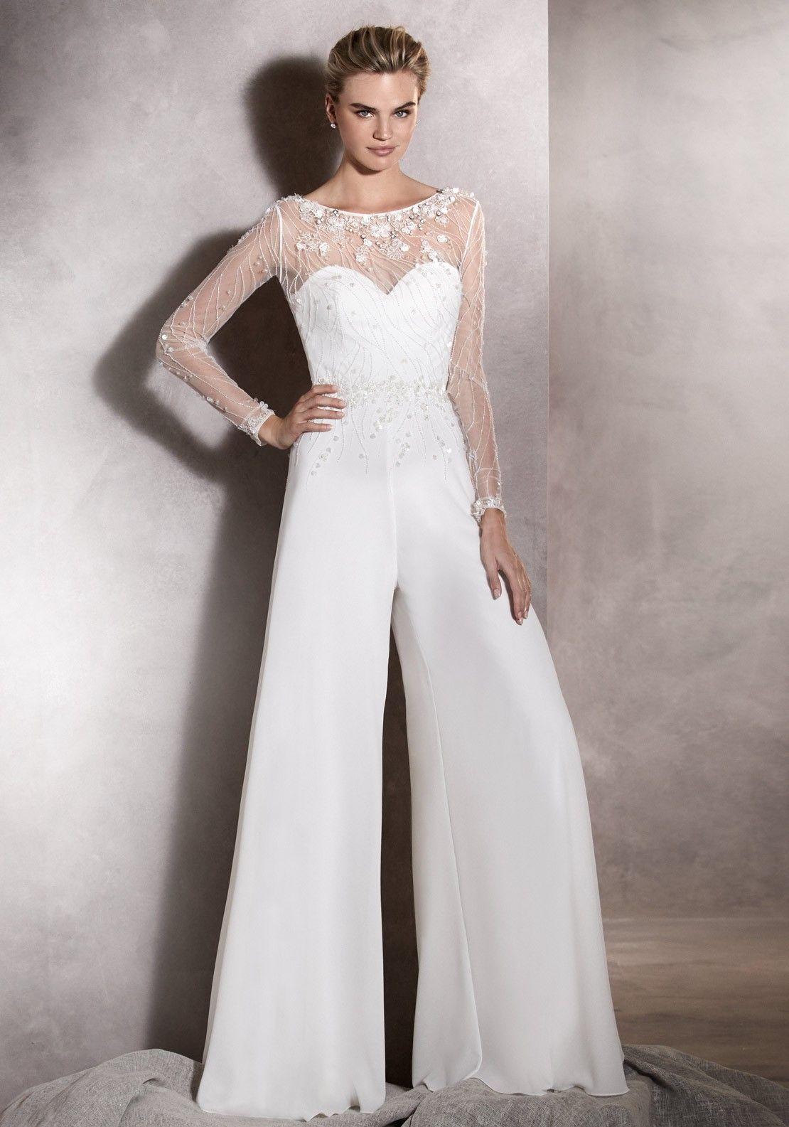 Pin by Jee Ko on Wedding | Wedding pantsuit, Wedding ...