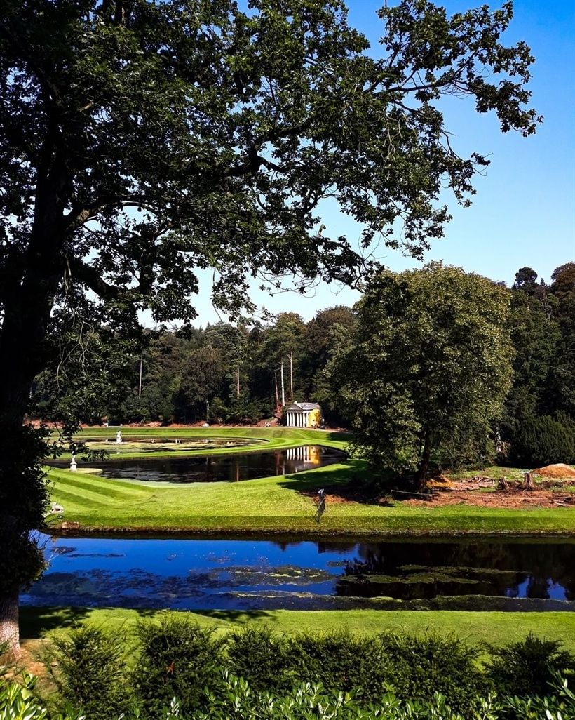 Studley Royal water garden, Fountains Abbey, North ...