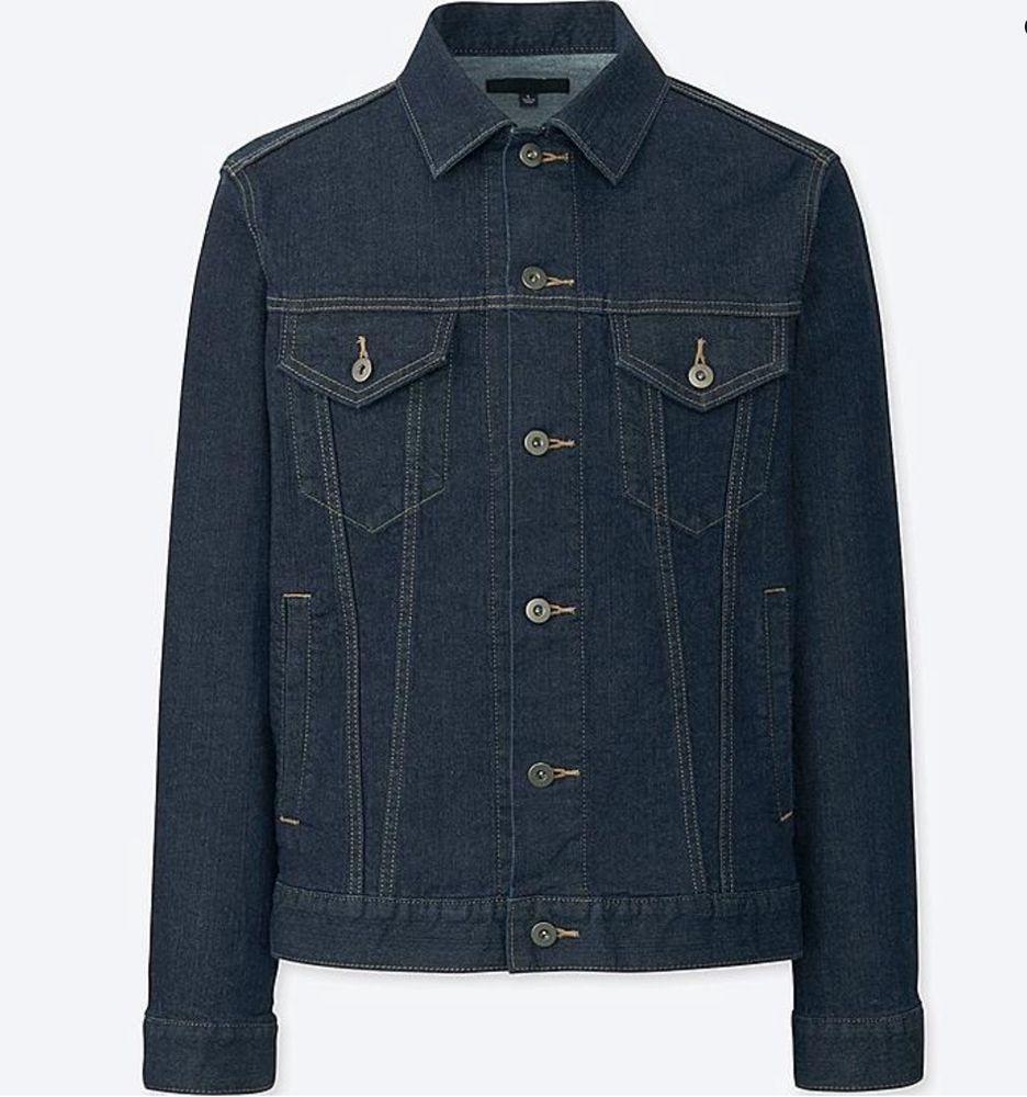 Men S Classic Dark Denim Jean Jacket Uniqlo Size Medium Perfect Condition Fashion Clothing Shoes Accessories Me Denim Jacket Men Mens Jackets Denim Jacket [ 1000 x 936 Pixel ]